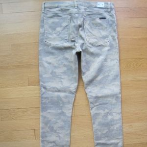 Hudson Skinny Ankle Mid Rise Camo Gray Jeans
